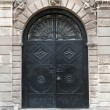 Iron doors, input in building — Stock Photo #5198591