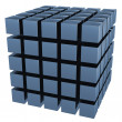 Stock Photo: The three-dimensional image of a set of cubes