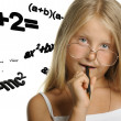 The girl and mathematical formulas — Stock Photo #5198713