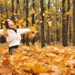 The girl in an autumn forest — Stock Photo #5198954