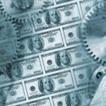 Background concept - Money power. Blue tone — Stock Photo #5198968