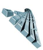 Klawiatury komputerowe gięte — Zdjęcie stockowe