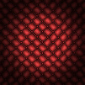 Texture leather quilted a sofa. Red color — Stock Photo