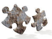 Puzzles from a stone — Stock Photo
