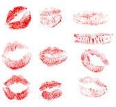 Set print of lips — Stock Photo