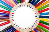 Circle from color pencils — Stock Photo