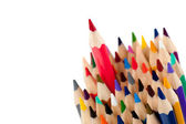 Red pencil - the leader — Stock Photo