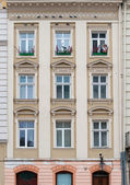 Facade of a building with windows — Stock Photo