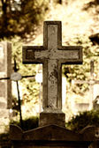 Old cross on a cemetery — Stock Photo