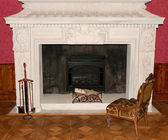 Ancient fireplace — Stock Photo