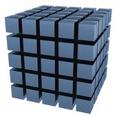 The three-dimensional image of a set of cubes — Stock Photo