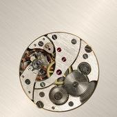 старый внутренний механизм аналоговых часов — Стоковое фото