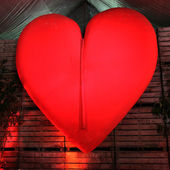 A huge red heart — Stock Photo