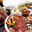 Dine at the various buffet - Stock Photo