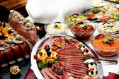 Dine at the various buffet — Stock Photo