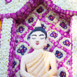 Buddha made of flowers — ストック写真