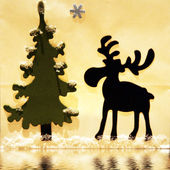 Fir with reindeer — Stock Photo