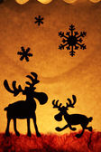 Christmas theme - two reindeer — Stockfoto