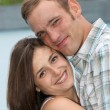 Amorous young couple entwined — Stock Photo