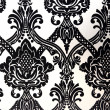 Wallpaper and fabric patterns in black and white — Photo