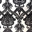 Stock Photo: Wallpaper and fabric patterns in black and white