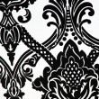 Close-up - Wallpaper or fabric pattern in black and white — Stock Photo