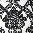 Wallpaper or fabric design in black and white — Stock Photo