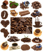 Fragrant coffee in a combination to gentle chocolate — Stock Photo