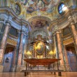 Santa Maria Maddalena church interior. - Stock Photo