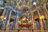 Santa Maria Maddalena church interior. — Stock Photo