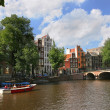 Amsterdam cityscape. — Stock Photo