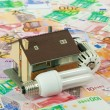 Stock Photo: Energy saving Costs