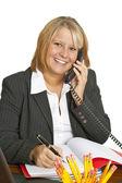 Mulher de negócios amigável — Foto Stock