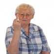 Middle finger sign — Stock Photo #4330787