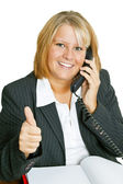Freindly Businesswoman — Stock Photo