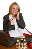 Vriendelijke zakenvrouw — Stockfoto