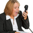 Angry businesswoman — Stock Photo #4991383
