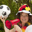 Royalty-Free Stock Photo: Female soccer Fan
