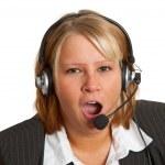 Yawning businesswoman — Stock Photo #4991513