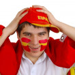 Spanish soccer fan — Stock Photo
