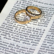 Love is Patient Bible Verse with Rings — Stock Photo #4138729