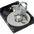 Stock Photo: Strong Lock on Top of Hard Disk