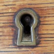 Antique Key Hole - Stock Photo