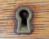 Antique Key Hole — Stock Photo