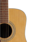 Acoustic Guitar Close Crop with Adspace — Stock Photo