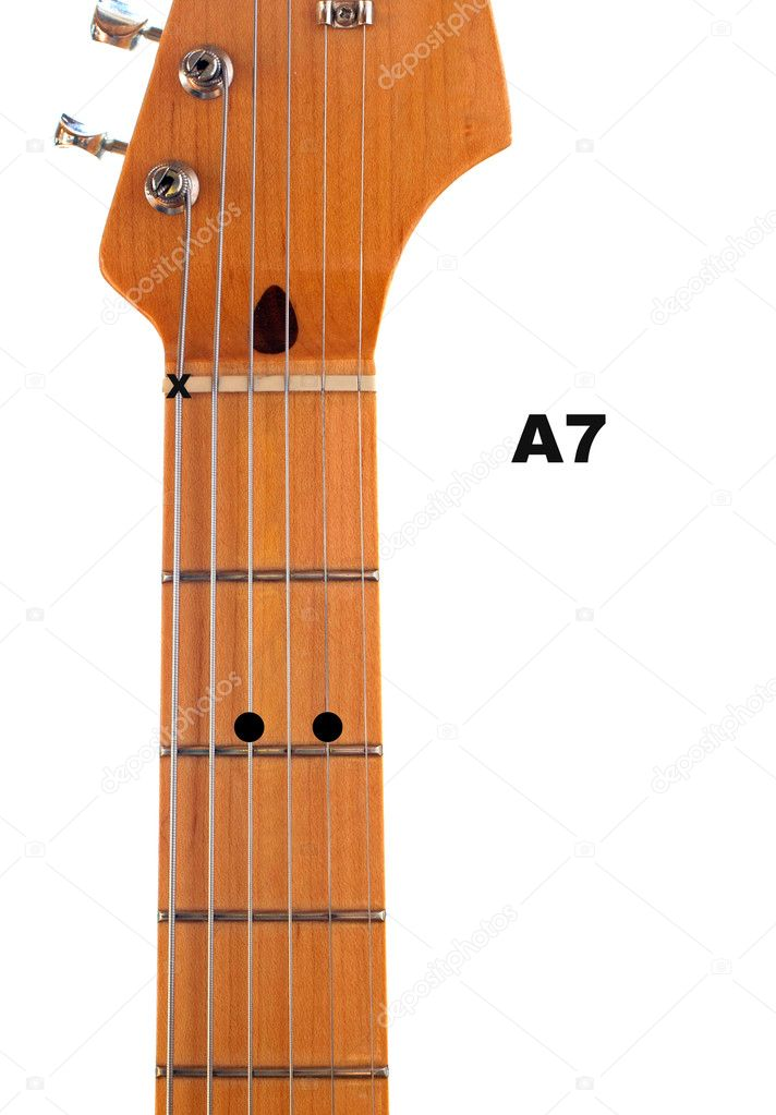 A7 Guitar Chord Diagram u2014 Stock Photo u00a9 deepspacedave #5347429
