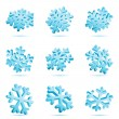 Snowflake icon - Stockvektor