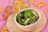 Some cold noodle salat with green vegetable — Stock Photo