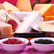 Stock Photo: Cheese platter with some organic fresh cheese