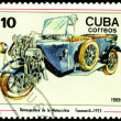 Postage stamp. Antique motorcycle Fanomovil - 1925. — Stock Photo